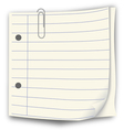 notepaper vector image