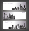 Building Banners vector image vector image