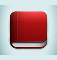 Red book icon vector image vector image