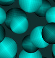 Balls seamless pattern Circles 3D texture Abstract vector image
