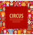 circus logo design template clown artist vector image