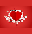 happy valentines day background modern abstract vector image