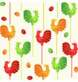 Sweet lollipop cocks vector image