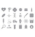 Hospital gray icons set vector image vector image