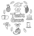 Doodle of thanksgiving element style vector image