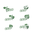Eco icons 3 vector image