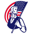 american patriot with flag vector image