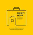 Remote work vector image