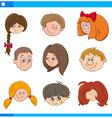 children cartoon characters set vector image