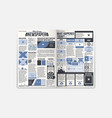 journal newspaper design with fresh news vector image