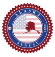 Label sticker cards of State Alaska USA vector image