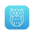 Owl line icon vector image