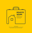 Remote work vector image