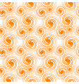 seamless pattern orange swirls isolated on white vector image
