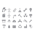 Industry work gray icons set vector image