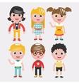Set of kids on white backgroundDifferent dress vector image vector image