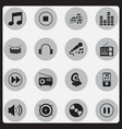set of 16 editable melody icons includes symbols vector image