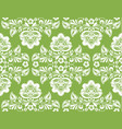 greenery russian hohloma style seamless background vector image