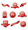 red advertising banners vector image