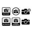 No photos no cameras no flash icons vector image vector image