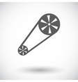 Timing belt flat icon vector image vector image