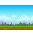 Seamless cartoon nature landscape vector image