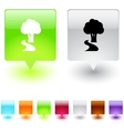 form and pen square button vector image vector image
