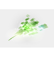 abstract background squares green vector image