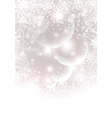 Abstract winter background with transparent balls vector image