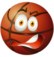 Basketball with shocking face vector image