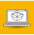 box carton icon design vector image