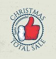 christmas total sale poster vector image