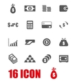 grey money icon set vector image