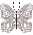 hand draw ornate line artwork of butterfly vector image