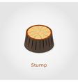 Stump isometric vector image