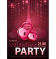 Valentine disco poster vector image