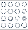 Wreaths collection icon set vector image
