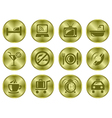 Hotel buttons vector image vector image