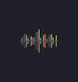 soundwave computer symbol vector image