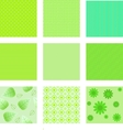 set of green textures for background vector image
