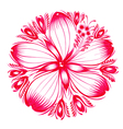 floral decorative ornament red hibiscus vector image