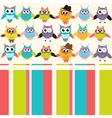 Background with owls vector image vector image