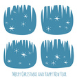 Retro Christmas card with window and snowflakes vector image vector image