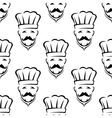 Mustached chef seamless pattern vector image
