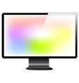 lcd monitor vector image vector image