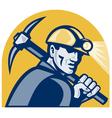 coal miner vector image