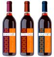 wine bottles set vector image vector image