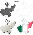 Jalisco blank outline map set vector image