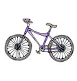 bicycle or bike realistic vector image