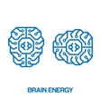 Brain energy sign vector image